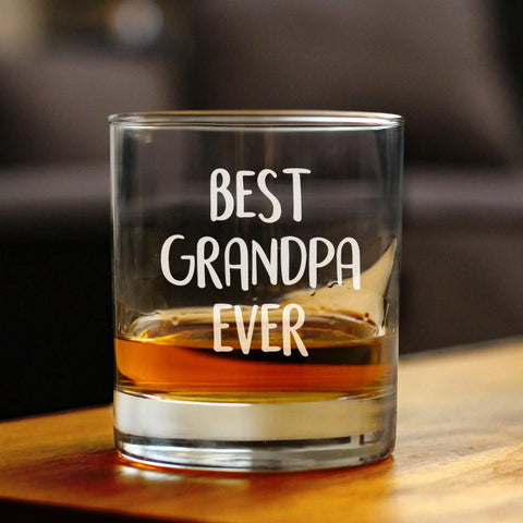 Image of Best Grandpa Ever - 10 Ounce Rocks Glass