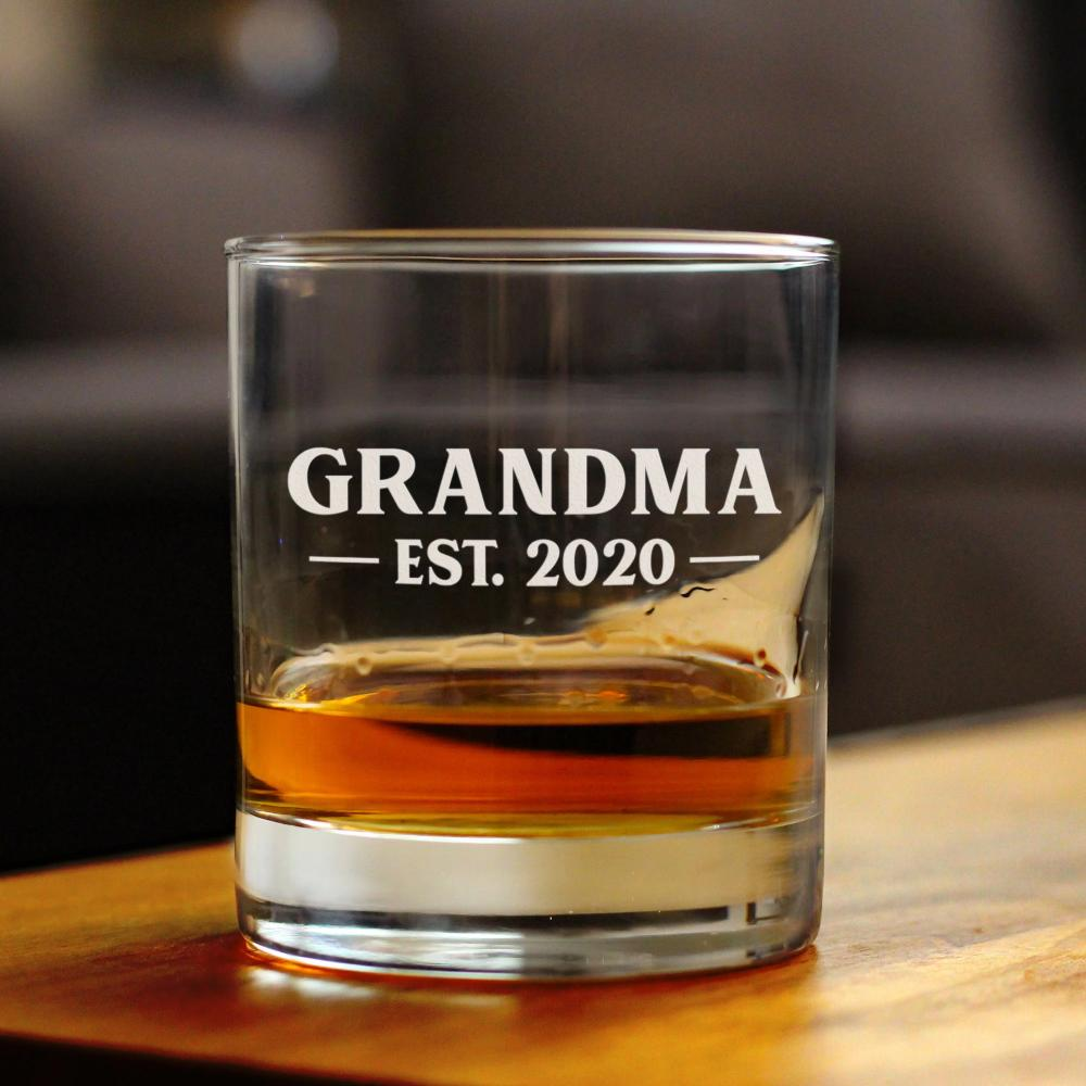 Grandma Est. 2020 -  Bold - 10 Ounce Rocks Glass