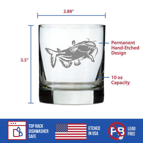 Image of Catfish - 10 Ounce Rocks Glass