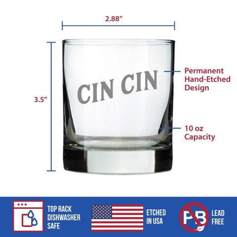 Image of Cheers Italian - Cin Cin - 10 Ounce Rocks Glass