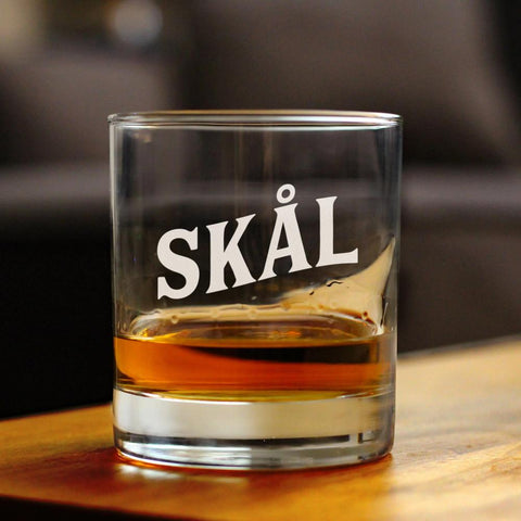 Cheers Norwegian - Skal - 10 Ounce Rocks Glass