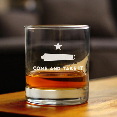 Come & Take It - 10 Ounce Rocks Glass