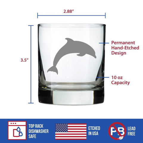 Image of Dolphin - 10 Ounce Rocks Glass