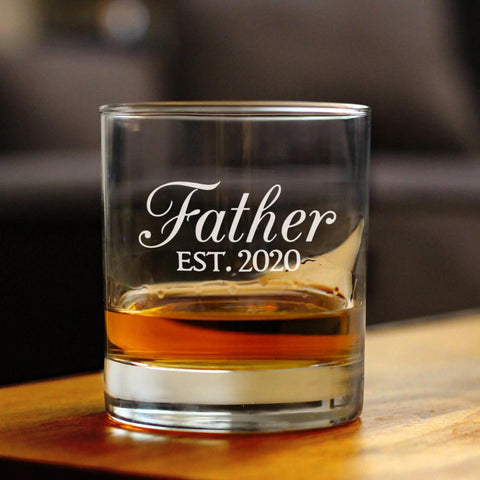 Image of Father Est. 2020 - 10 Ounce Rocks Glass