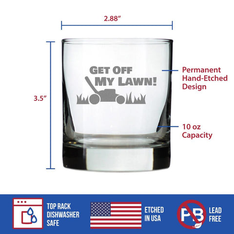 Image of Get Off My Lawn - 10 Ounce Rocks Glass