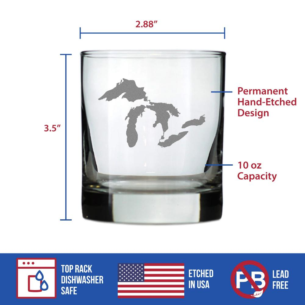 Great Lakes - 10 Ounce Rocks Glass