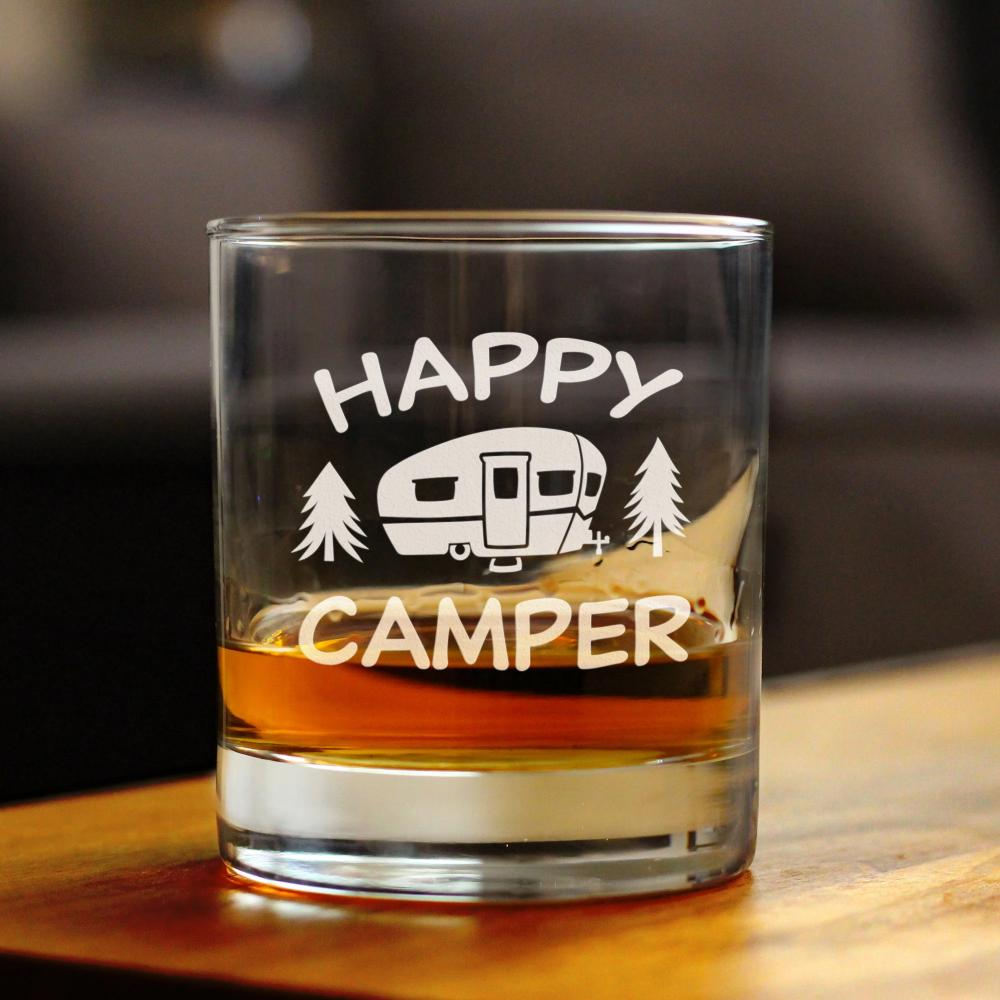 Happy Camper - 10 Ounce Rocks Glass