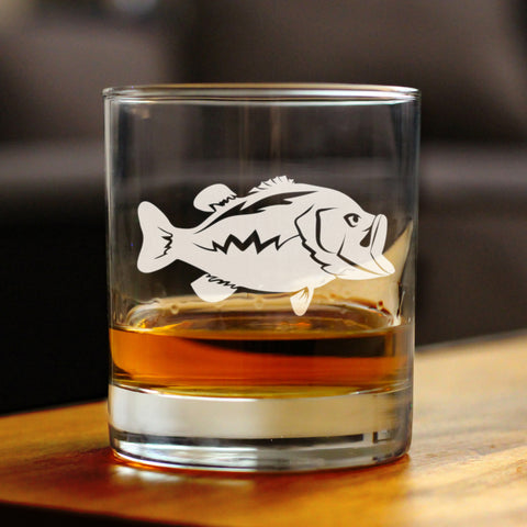Image of Largemouth Bass - 10 Ounce Rocks Glass