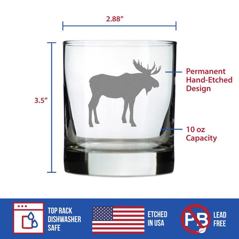Moose - 10 Ounce Rocks Glass
