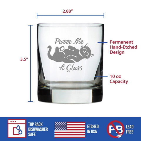 Purr Me A Glass - 10 Ounce Rocks Glass