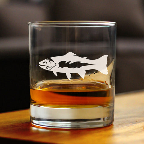 Image of Trout - 10 Ounce Rocks Glass