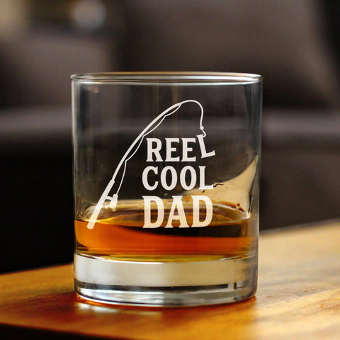 Image of Reel Cool Dad - 10 Ounce Rocks Glass