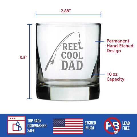 Reel Cool Dad - 10 Ounce Rocks Glass