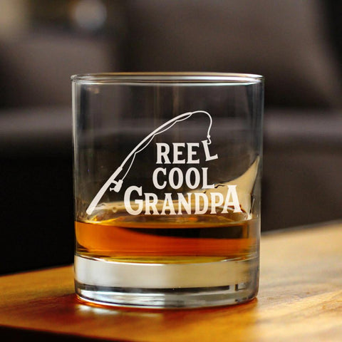 Reel Cool Grandpa - 10 Ounce Rocks Glass