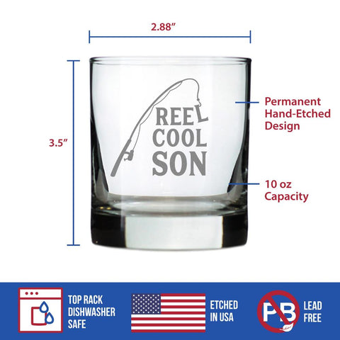 Reel Cool Son - 10 Ounce Rocks Glass