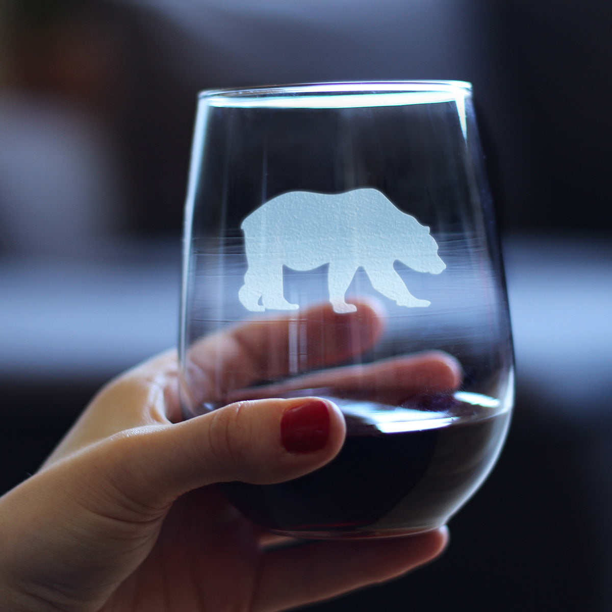 Bear - 17 Ounce Stemless Wine Glass