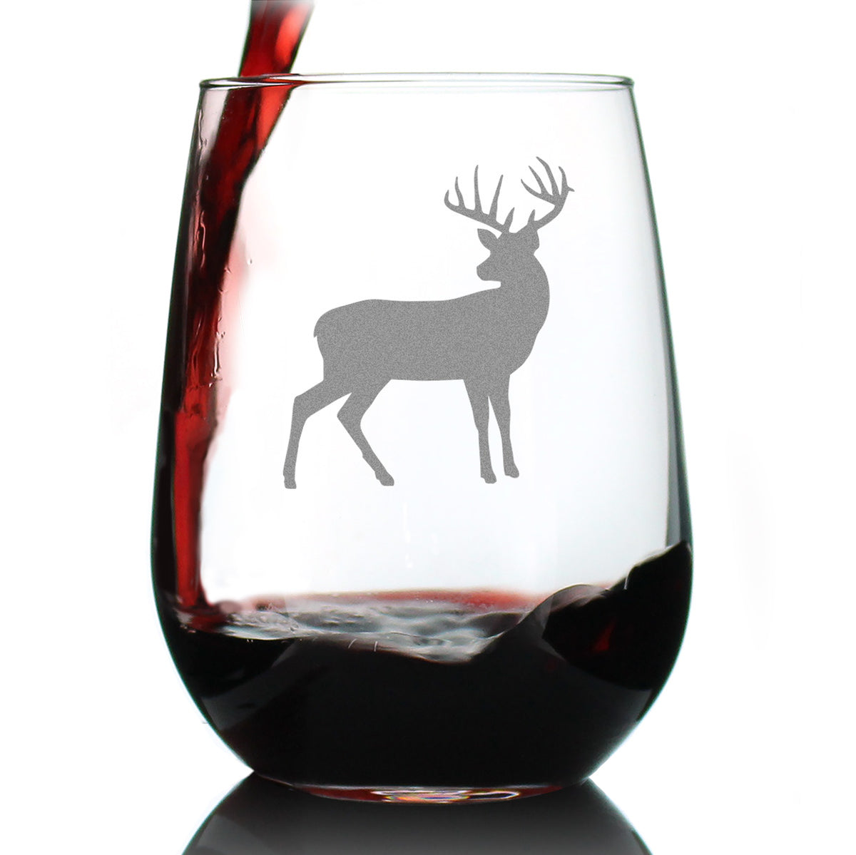 Deer - 17 Ounce Stemless Wine Glass