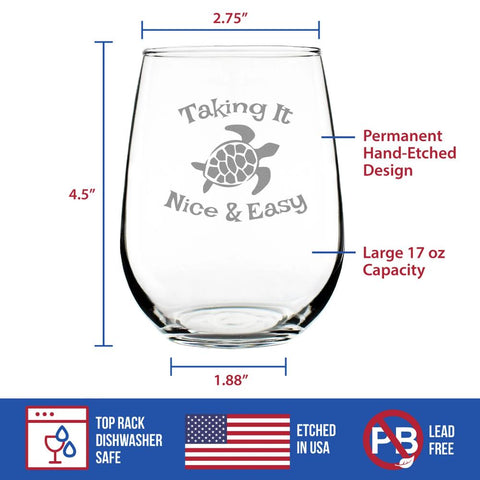 Image of Taking It Nice & Easy - 17 Ounce Stemless Wine Glass