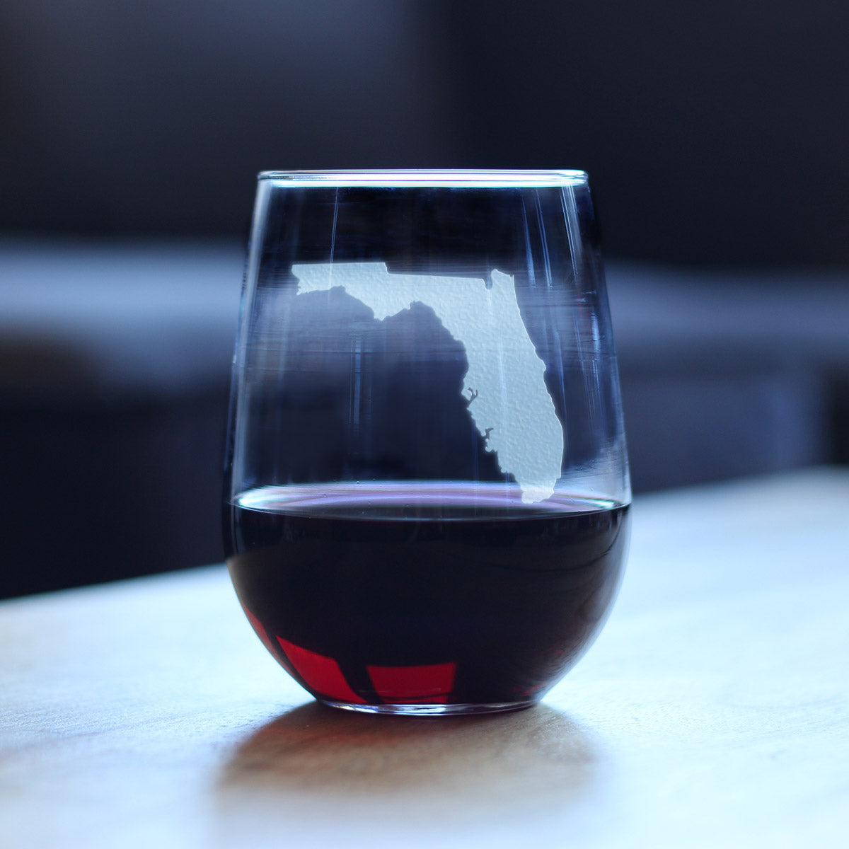 State of Florida - 17 Ounce Stemless Wine Glass
