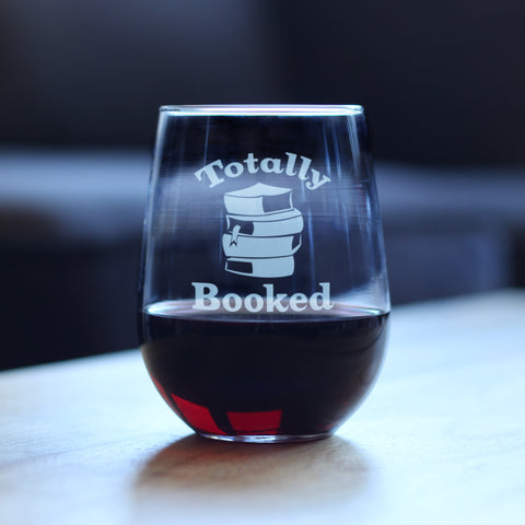 Totally Booked - 17 Ounce Stemless Wine Glass