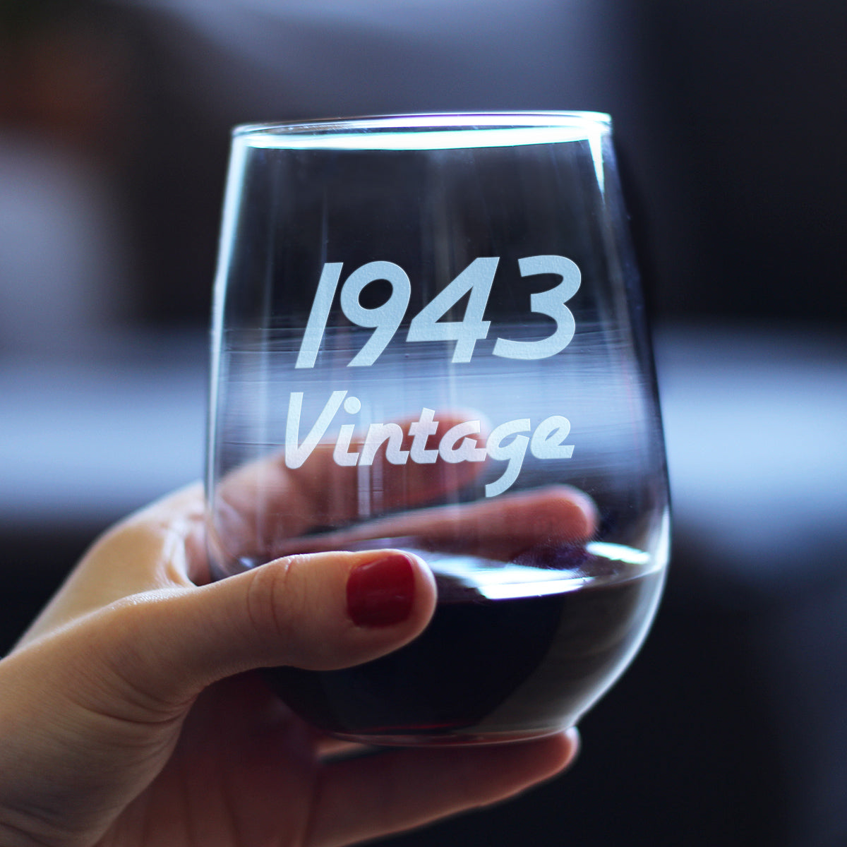 Vintage 1943 - 17 Ounce Stemless Wine Glass