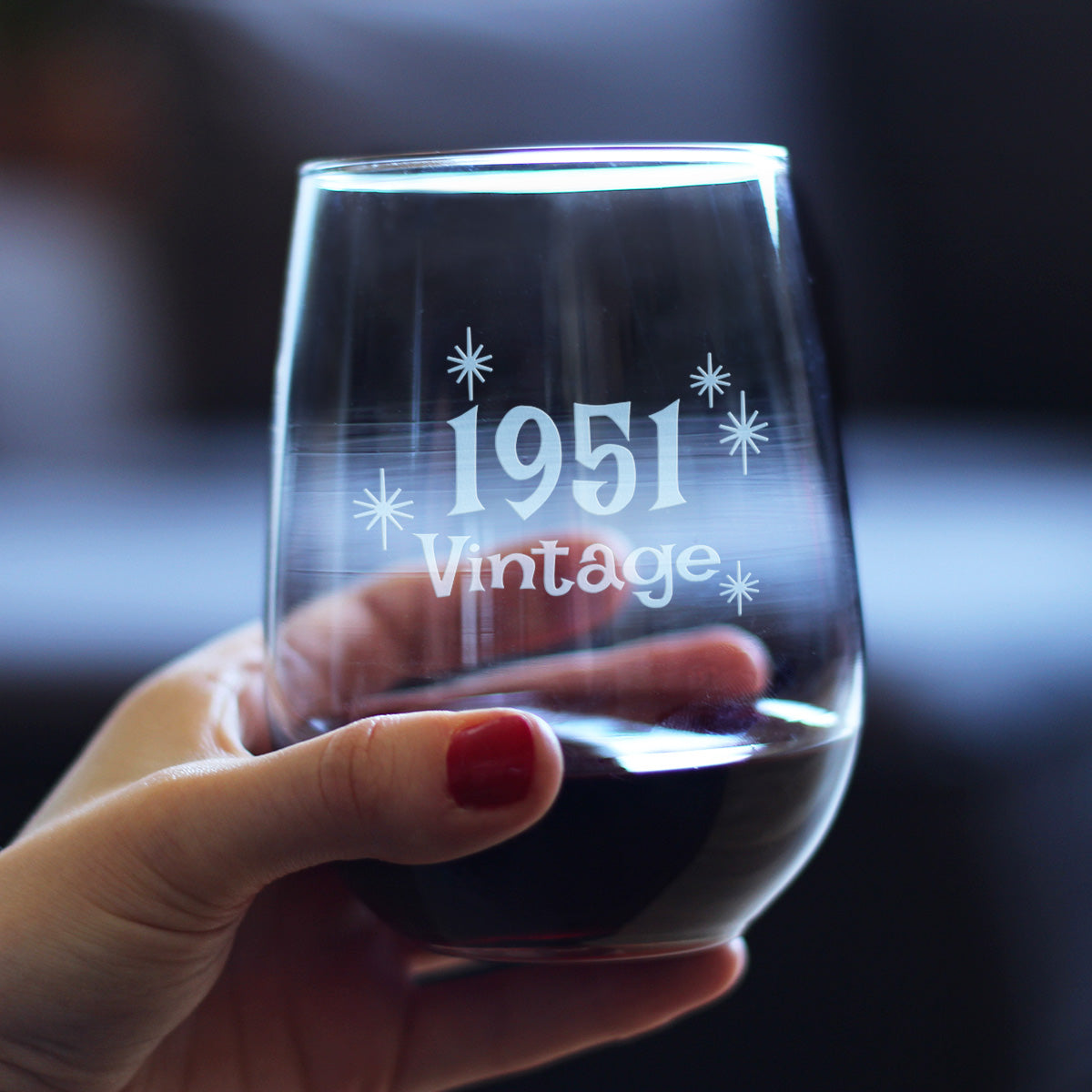Vintage 1951 - 17 Ounce Stemless Wine Glass