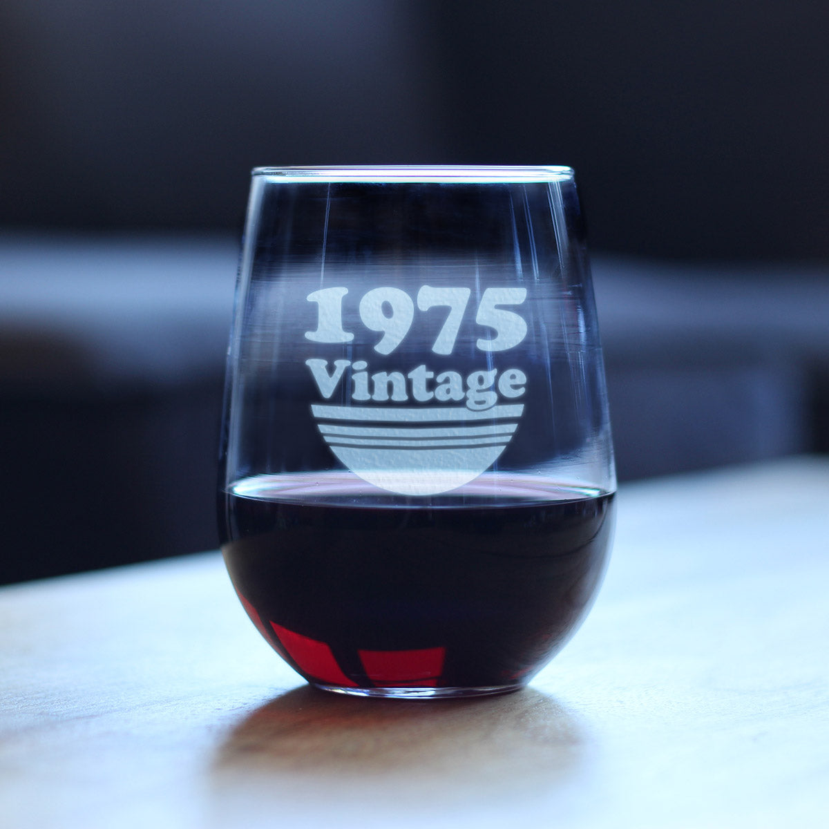 Vintage 1975 - 17 Ounce Stemless Wine Glass