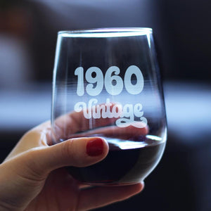 Vintage 1960 - 17 Ounce Stemless Wine Glass