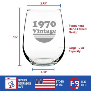 Vintage 1970 - 17 Ounce Stemless Wine Glass