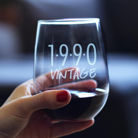 Image of Vintage 1990 - 17 Ounce Stemless Wine Glass
