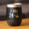 24 + 1 Middle Finger - Wine Tumbler