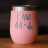 44 + 1 Middle Finger - Wine Tumbler