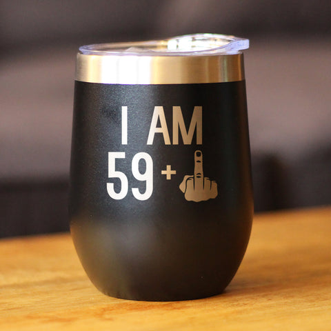 Image of 59 + 1 Middle Finger - Wine Tumbler