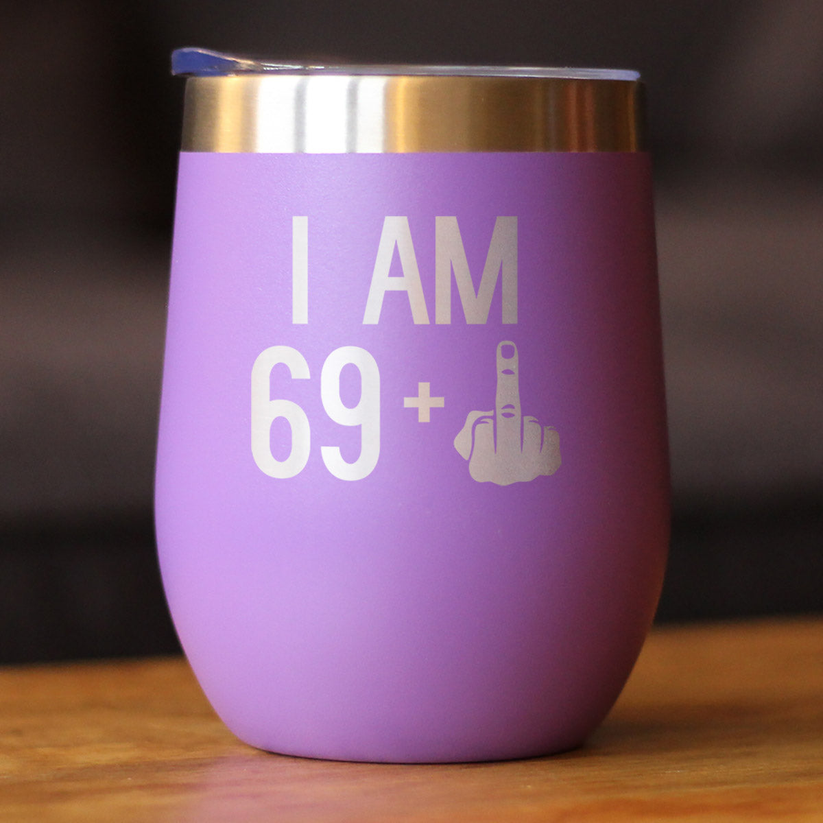 69 + 1 Middle Finger - Wine Tumbler