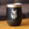 German Shepherd Happy Face - Wine Tumbler