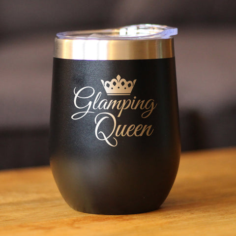 Image of Glamping Queen - Wine Tumbler