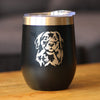 Golden Retriever Happy Face - Wine Tumbler