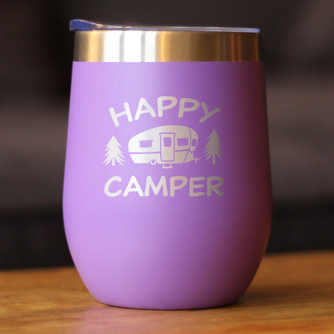 Image of Happy Camper - Wine Tumbler