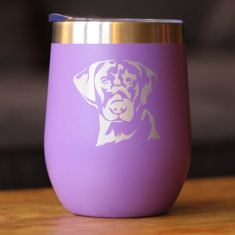 Image of Labrador Face - Wine Tumbler