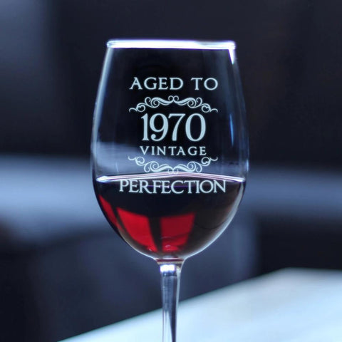 Aged to Perfection 1970 Vintage - 16.5 Ounce Stem Wine Glass