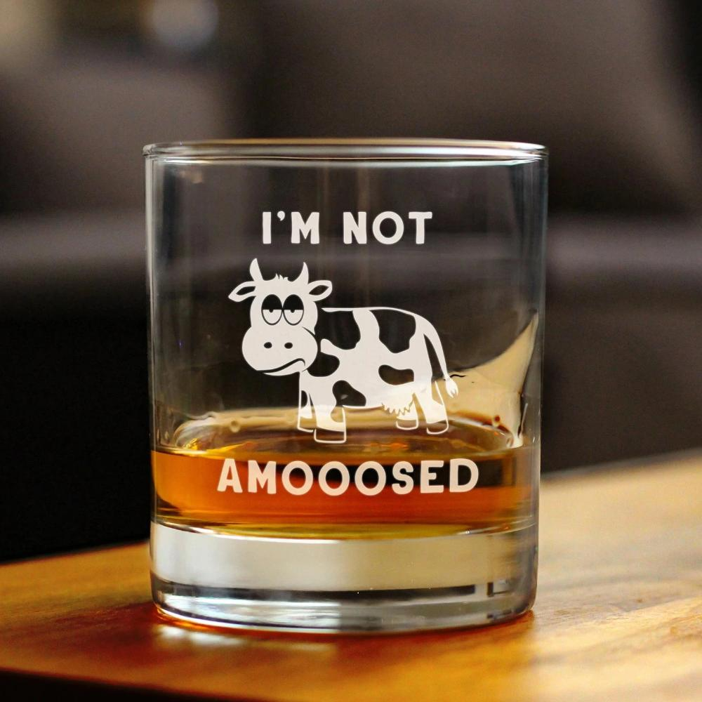 I'm Not Amooosed - 10 Ounce Rocks Glass