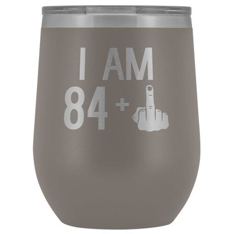 Image of 84 + 1 Middle Finger - Wine Tumbler