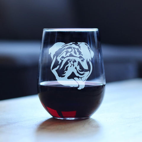 Bulldog - 17 Ounce Stemless Wine Glass
