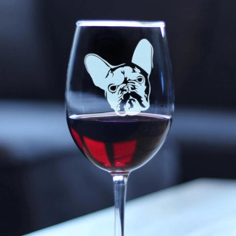 Image of French Bulldog - 16.5 Ounce Stem Wine Glass