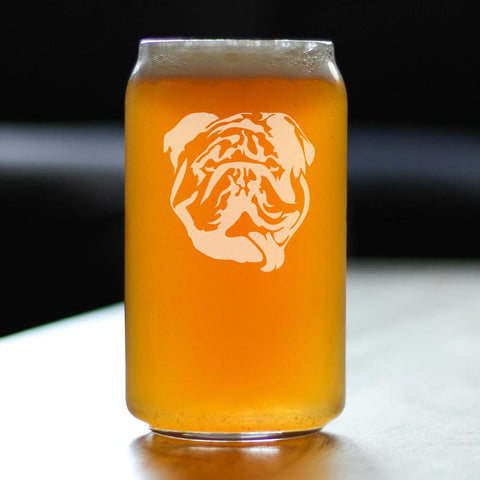 Image of Bulldog - 16 Ounce Beer Can Pint Glass