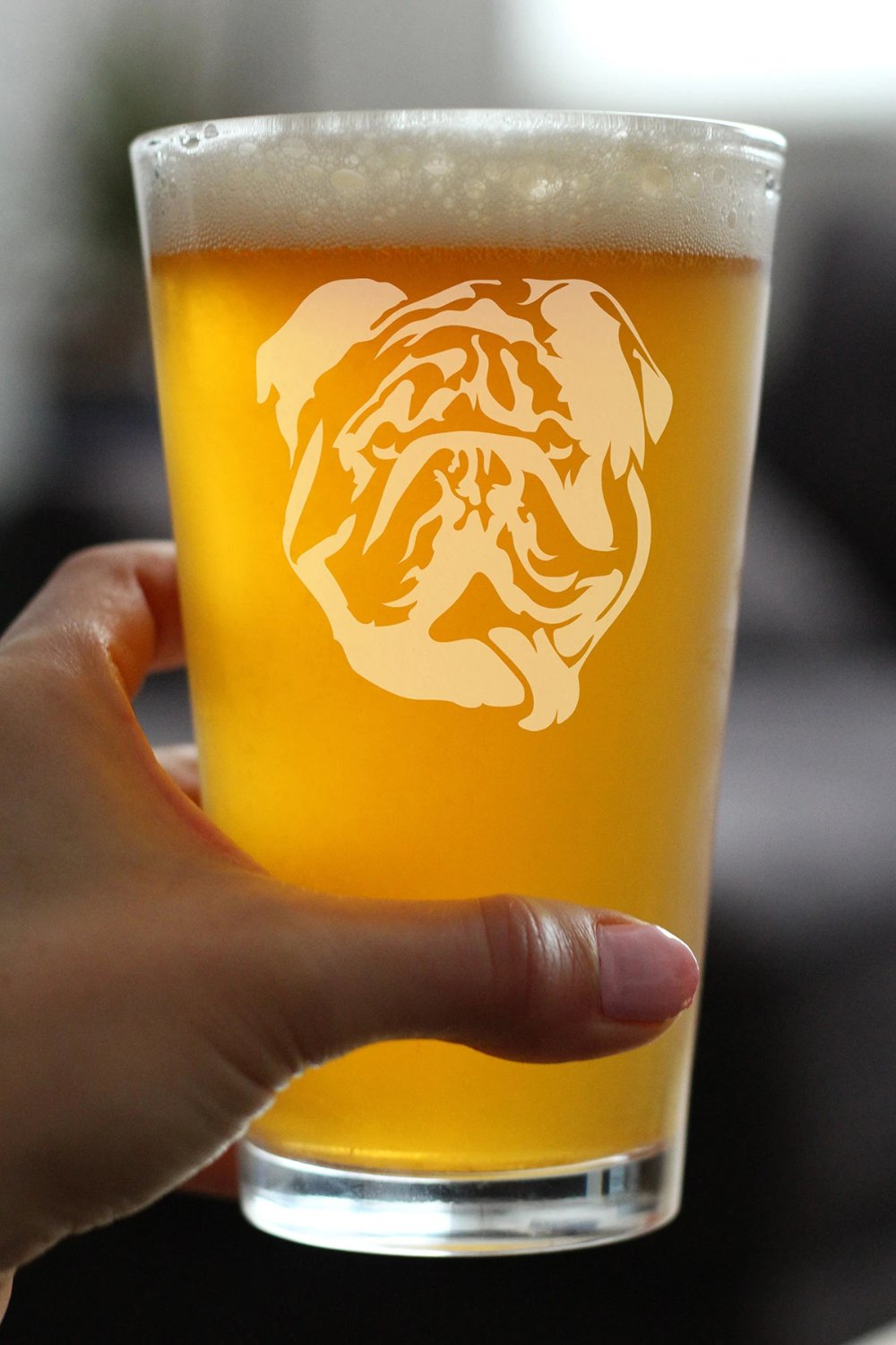 English Bulldog - 16 Ounce Pint Glass