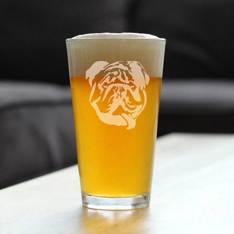 Bulldog - 16 Ounce Pint Glass