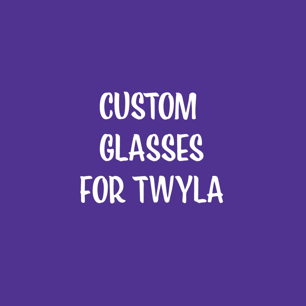 Custom Rocks Glasses for Twyla