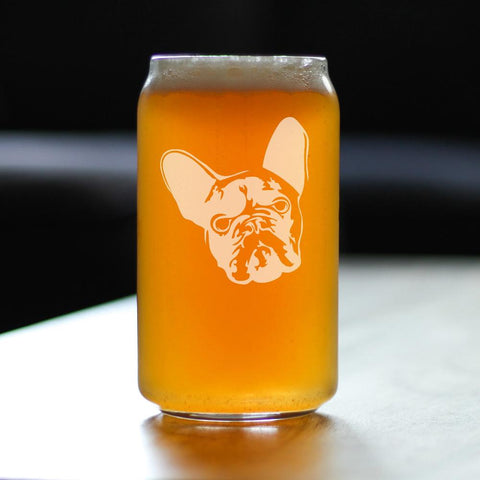 French Bulldog - 16 Ounce Beer Can Pint Glass