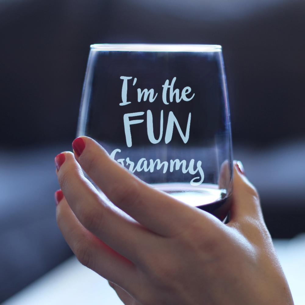 I'm the Fun Grammy- 17 Ounce Stemless Wine Glass